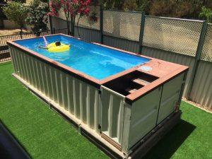 Container maritime transformé en piscine