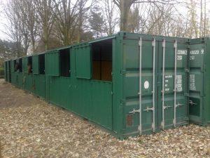 Container maritime aménagé en box à chevaux