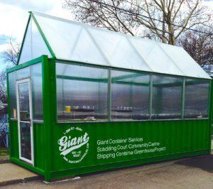 Container maritime transformé en serre pour cultiver des légumes