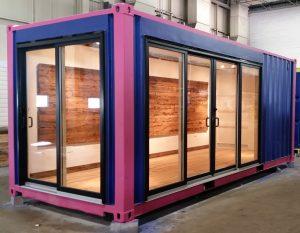 Container maritime transformé en bureau