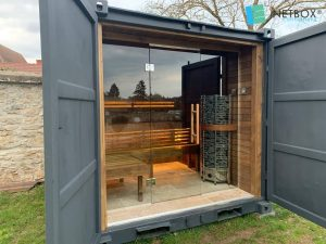 Container transformé en sauna